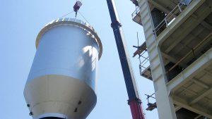 Montaža vertikalne peći u KAP Podgorica